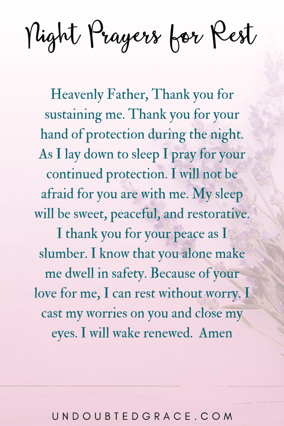 night prayers, night prayer