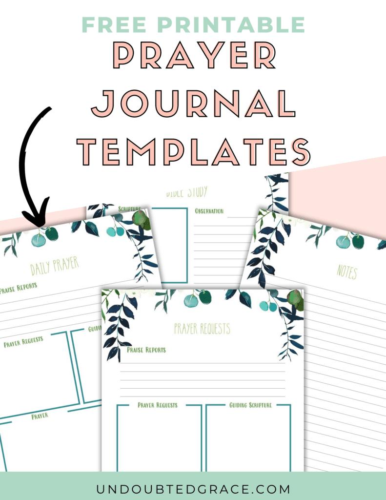 prayer journal printables