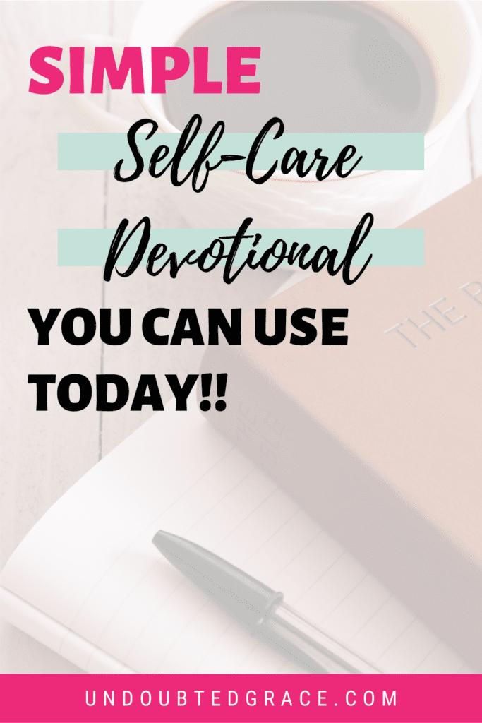 self-care devotional