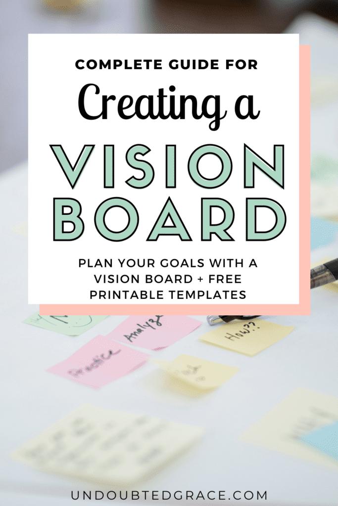 Creating a christian vision board, habukkuk 2, write the vision