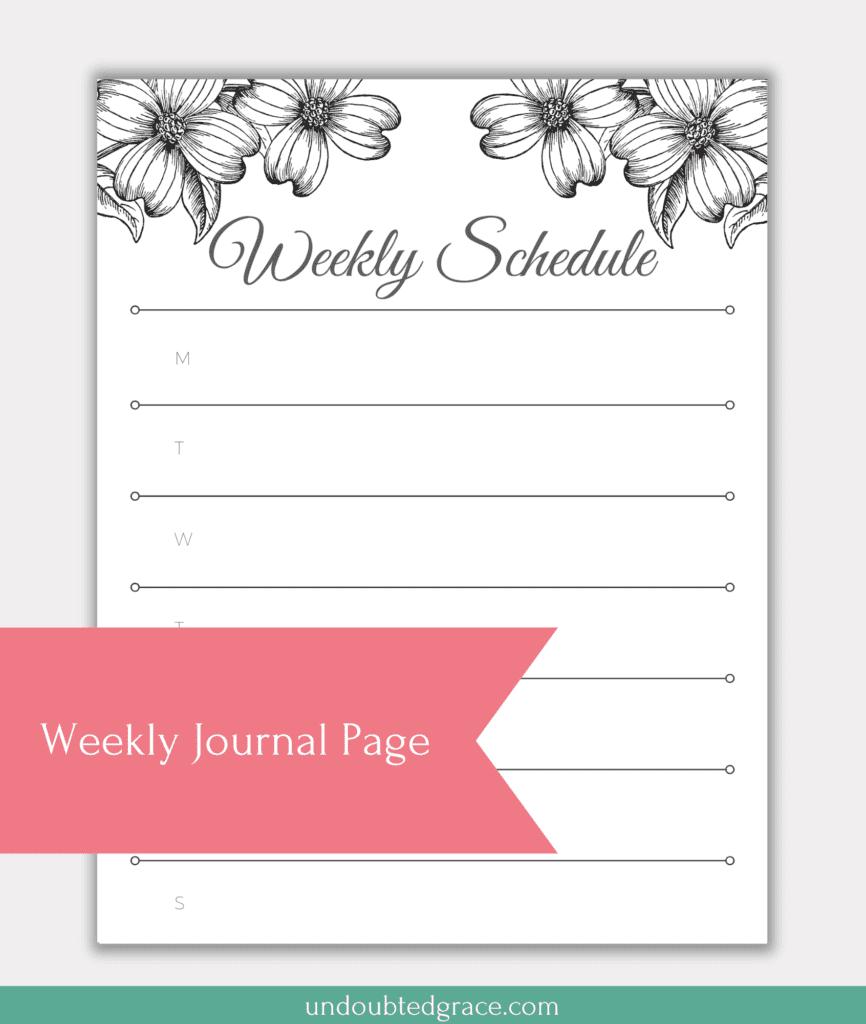 weekly printable page