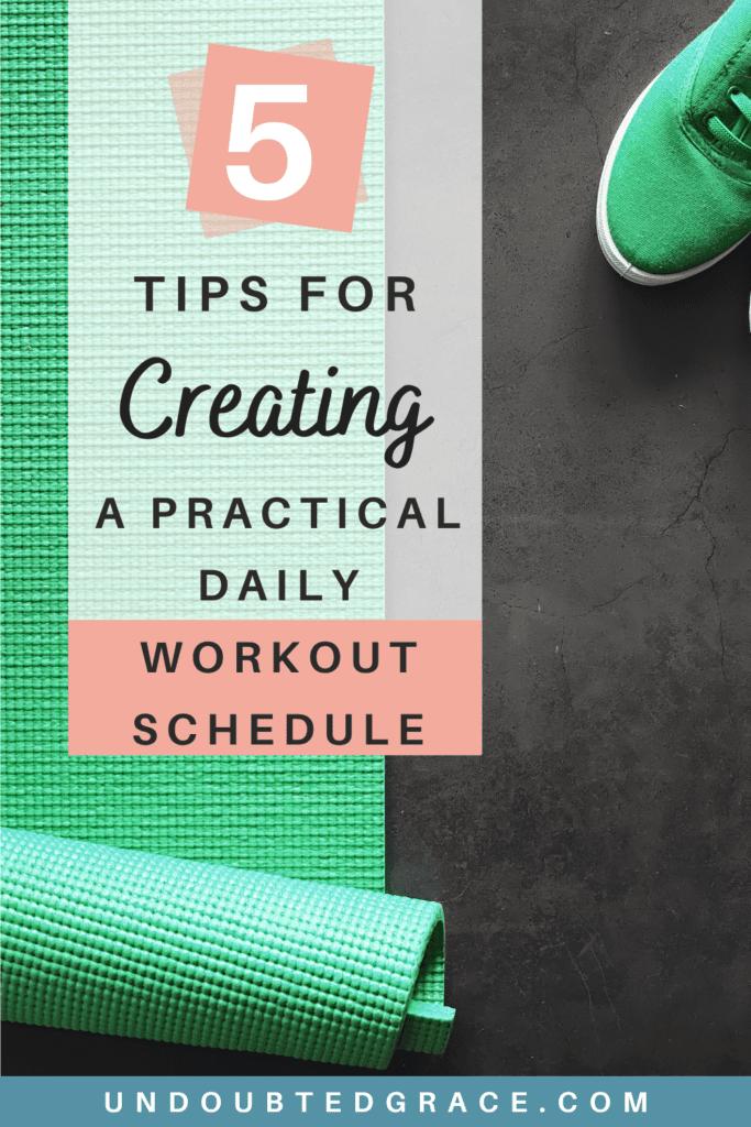 working mom workout schedule