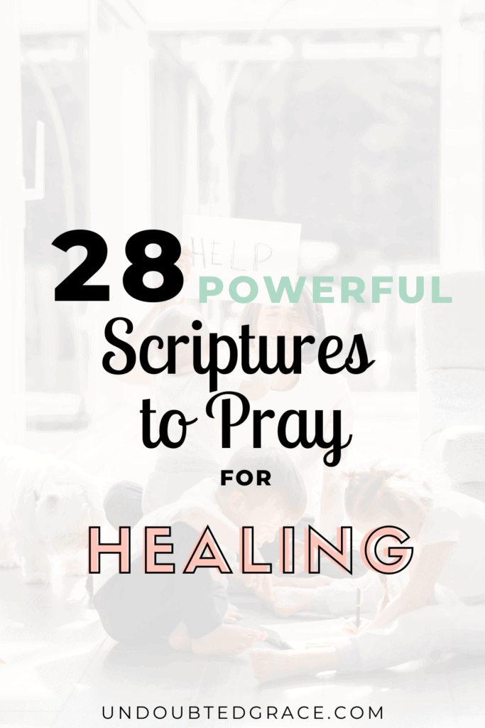 scriptures to pray for healing