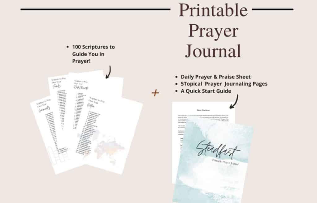 daily prayer journal printable