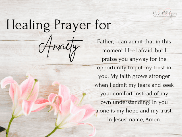 healing prayer for anxiety